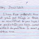 Abby's Pockets Children's Letter