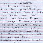 Jacie's Pockets Children's Letter