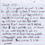 Chloe's Pockets Children's Letter
