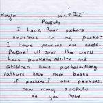 Kayla's Pockets Children's Letter
