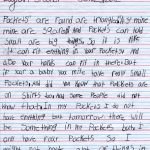 Logan's Pockets Children's Letter