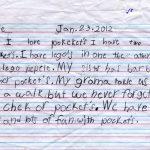 Kyle's Pockets Children's Letter